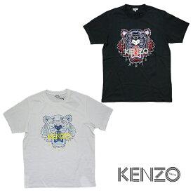 KENZO kenzo ケンゾー メンズ タイガー Tシャツ ラウンドネック ブラック ホワイト 2020ss