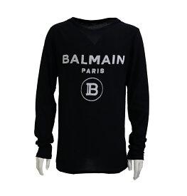 BALMAIN バルマン メンズ 長袖 tシャツ ロングTシャツロンT ロゴ ブラック