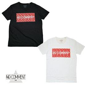 no comment paris ノーコメントパリ 半袖Tシャツ メンズ ブラック ホワイト クルーネック 丸首 モノグラム