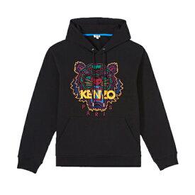 KENZO kenzo ケンゾー メンズ パーカー スウェット タイガー 刺繍 ブラック プルオーバー フーディ2019 2020秋冬新作 5SW415 4XA 99