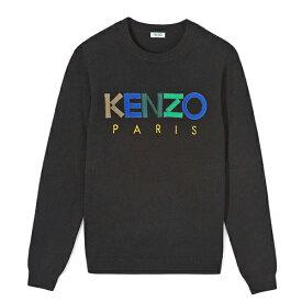 KENZO kenzo ケンゾー メンズ ウールセーター ニットブラック ロゴ プルオーバー 2019 2020秋冬新作