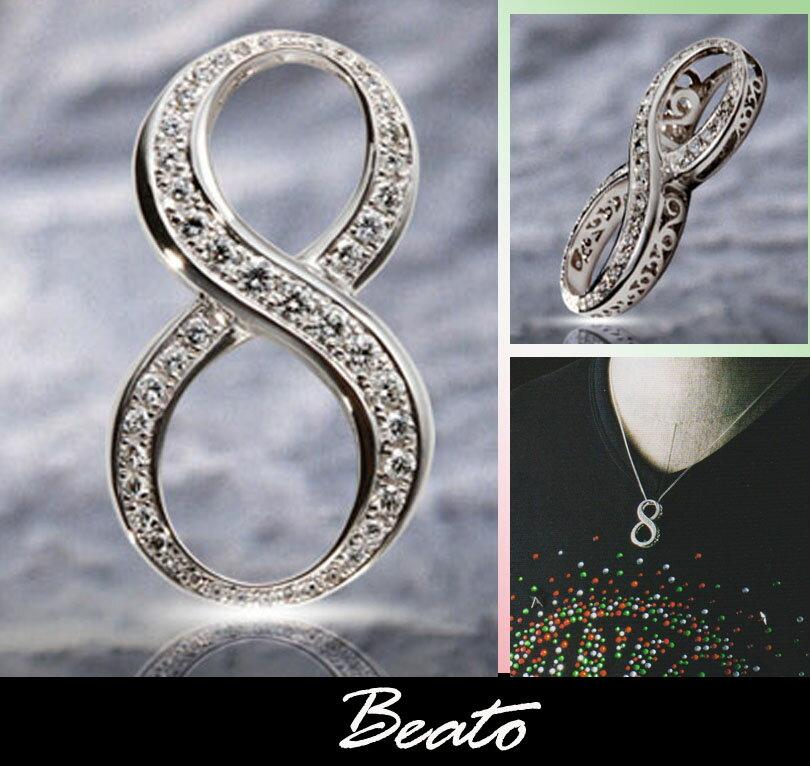 【BEATO】ナンバーエイト ネックレス NO8 シルバーネックレス
