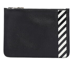 off-white オフホワイト クラッチバッグ ポーチ DIAG FLAT POUCH BLACK WHITE 黒