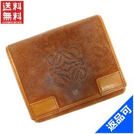ロエベ 財布 レディース (メンズ可) 二つ折り財布 LOEWE Wホック財布 (激安・即納) 【中古】 X4238