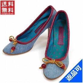 マークジェイコブス 靴 レディース パンプス MARC JACOBS ♯(35・12)ハイヒール デニム×リボン シューズ靴 (人気・激安) 【中古】 X5538