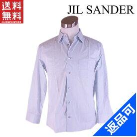 [半額セール]ジルサンダー Jil Sander シャツ 長袖 40サイズ 胸ポケット付き 中古 X5955