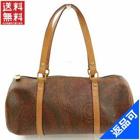エトロ バッグ レディース (メンズ可) ハンドバッグ ETRO ペイズリー 筒型バッグ 良品 人気 【中古】 X6344