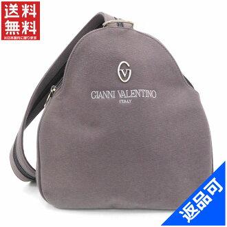 Gianni Valentino VALENTINO GIANNI Luc body bag men-friendly logo grey x silver canvas (correspondence) popular beauty products X6780