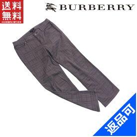 バーバリー メンズ パンツ BURBERRY ♯40サイズ チェック クロップド丈 良品 人気 【中古】 X7076