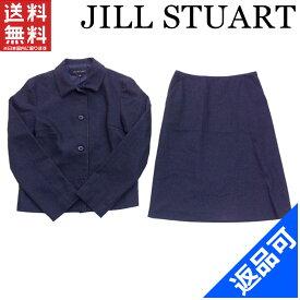 ジルスチュアート レディース スカートスーツ JILL STUART シングルジャケット×スカート ギザギザパイピング フレアー 良品 人気 【中古】 X7126