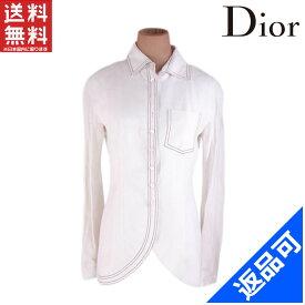 クリスチャン・ディオール レディース ジャケット Christian Dior ♯USA6サイズ シングル ステッチ入り シャツ風ジャケット 良品 人気 【中古】 X7351