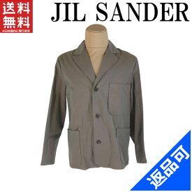 ジルサンダー メンズ ジャケット JIL SANDER 180956 ♯36サイズ 3つボタン テーラード 裏地タータンチェック 良品 人気 【中古】 X7475