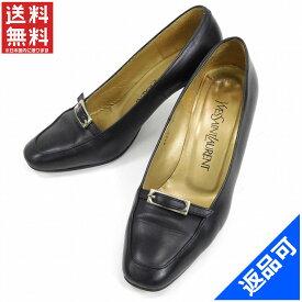 [半額セール]イヴ・サンローラン YVES SAINT LAURENT 靴 パンプス シューズ 靴 ♯35 ラウンドトゥ ベルトデザイン 中古 X7574