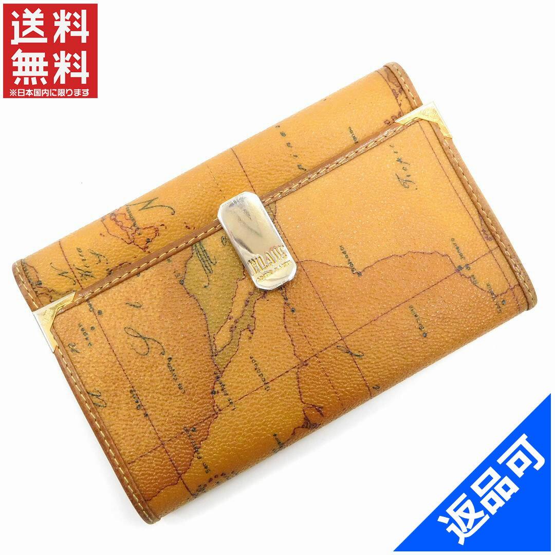 プリマクラッセ 財布 レディース (メンズ可) 二つ折り財布 PRIMA CLASSE 地図柄 人気 即納 【中古】 X9100