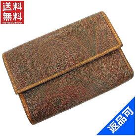 エトロ 財布 レディース (メンズ可) 二つ折り財布 ETRO ペイズリー 三つ折り財布 即納 【中古】 X10671