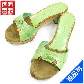 [半額セール]ルイヴィトン LOUIS VUITTON 靴 サンダル シューズ 靴 ウッド ヴェルニ 中古 X11489