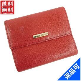 バーバリー 財布 レディース (メンズ可) 二つ折り財布 BURBERRY Wホック財布 即納 【中古】 X11877