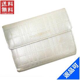 バーバリー 財布 レディース (メンズ可) 二つ折り財布 BURBERRY ライセンス 三つ折り財布 即納 【中古】 X11904