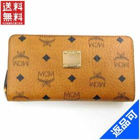 9419d81e65579 エムシーエム 財布 レディース (メンズ可) 長財布 MCM MCM柄 ラウンドファスナー財布