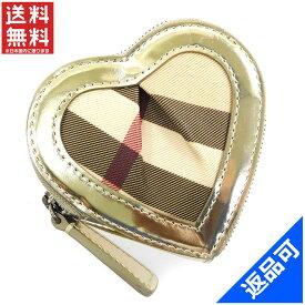 バーバリー 財布 レディース (メンズ可) コインケース BURBERRY ハート型 ノバチェック 美品 即納 (未使用品) X16773