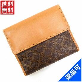 セリーヌ 財布 レディース (メンズ可) 二つ折り財布 CELINE マカダム Wホック財布 即納 【中古】 X16828