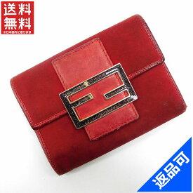 [半額セール]フェンディ FENDI 財布 二つ折り財布 三つ折り財布 中古 X17076