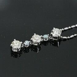 Pt900x850ダイヤモンドD1.00ctトリロジーペンダントネックレス【中古】