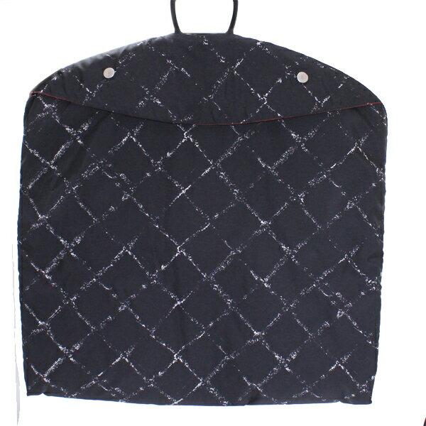 美品 CHANEL シャネル ガーメントケース 旧トラベルライン 黒x白 ブラック ナイロンジャガード スーツカバー【中古】
