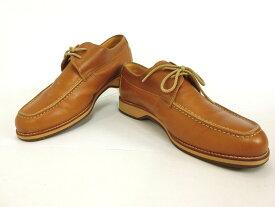 BURBERRY・バーバリー 本革レザーシューズ ひも/紐靴 26cm BU1367 ブラウン カジュアル ビジネス 軽い おしゃれ メンズ靴 ブランド 美品 中古 17-60670
