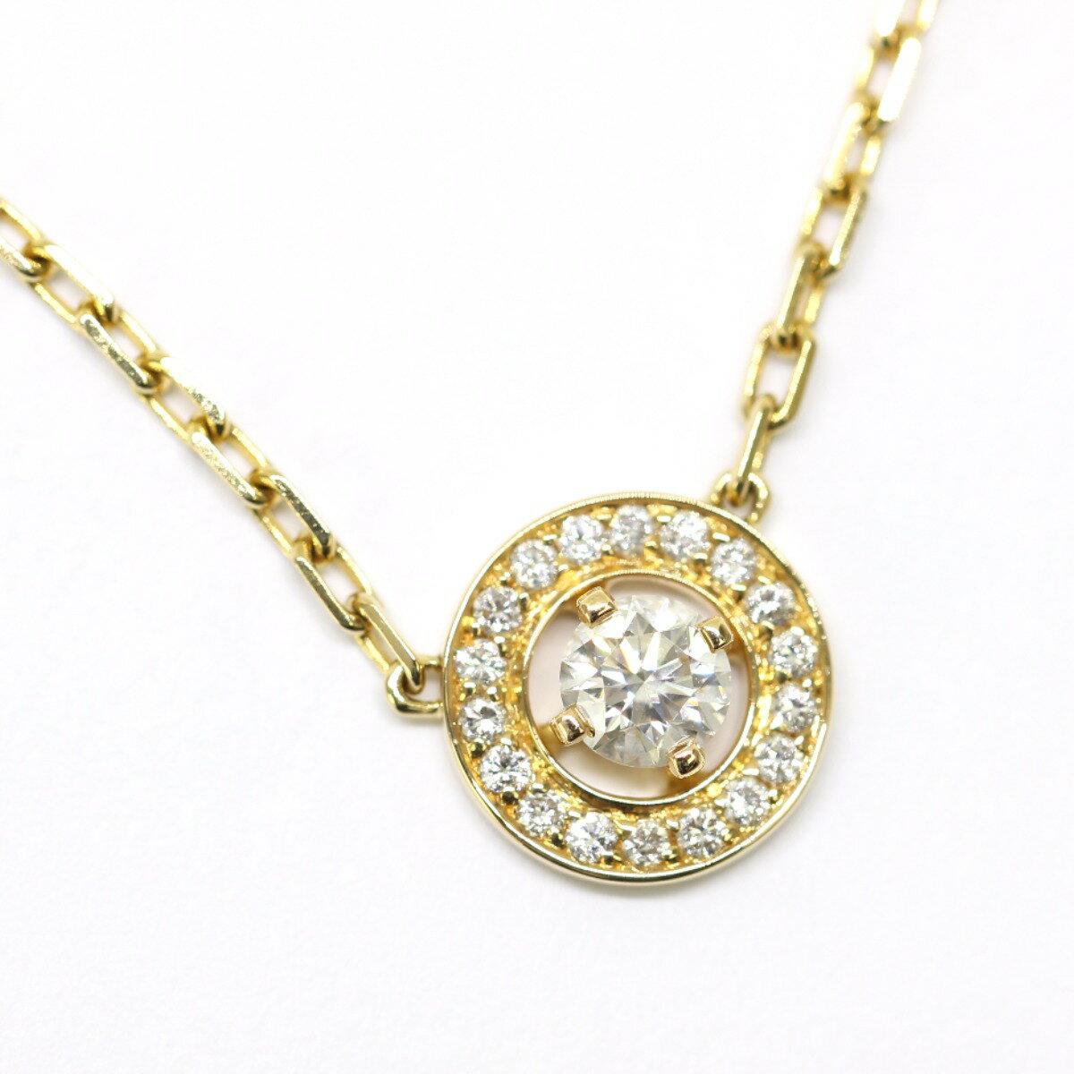 緊急値下げ! ブシュロン アバ 0.2ct ダイヤモンド ネックレス K18 イエローゴールド Boucheron 【中古】K70413018-13F