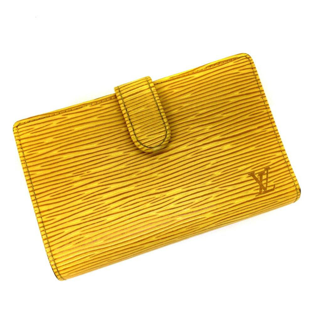 ルイヴィトン エピレザー 二つ折り財布 M63249 イエロー レディース LOUIS VUITTON 【中古】 K80619005 バーゲン 【PD3】