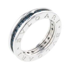 ブルガリ ビーゼロ 11号 XSサイズ 1バンド リング 指輪 K18ホワイトゴールド ブルートパーズ レディース BVLGARI 【中古】K81212960 【PD3】