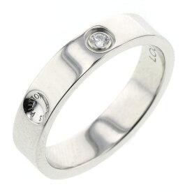 ルイヴィトン プティット バーグ アンプラント リング 指輪 PT950 ダイヤモンド0.02ct 5号 レディース LOUIS VUITTON【中古】K90413836