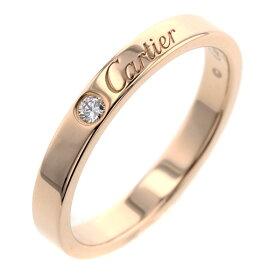 カルティエ エングレーブド ダイヤモンド 1P 約3mm リング 指輪 K18ピンクゴールド 17号 メンズ CARTIER 【中古】 K90723958 【PD1】