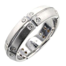 ティファニー リング 指輪 ストリーメリカ 20P ダイヤモンド K18ホワイトゴールド 9.5号 レディース TIFFANY&Co. 【中古】 K00413965 【PD1】