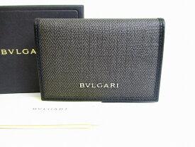 【未使用】 ブルガリ BVLGARI ウィークエンド 名刺入れ カードケース メンズ レディース グレー 【中古】