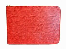 【未使用保管品】 ルイヴィトン LOUIS VUITTON エピ ポッシュドキュマン クラッチバッグ ドキュメントケース メンズ レディース 赤 【中古】