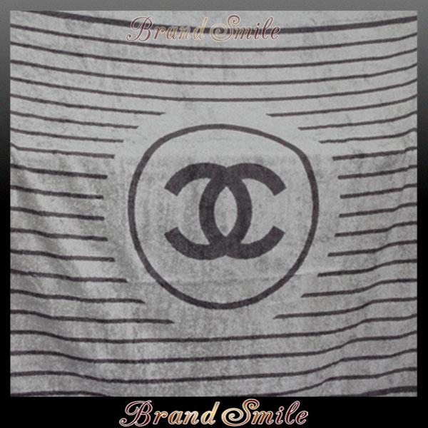 【新品】 シャネル CHANEL CCマーク付きビーチタオル グレーブラウン towel