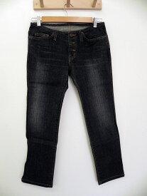 HYSTERIC GLAMOUR ヒステリックグラマー ポケット ロゴ プリント アンクル パンツ 黒 レディース S