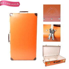 【中古】★GLOBETROTTER・グローブトロッター オリジナル スーツケース 28インチ 二輪 キャリーバッグ オレンジ [海外旅行 トラベル 美品]【人気】★19xs70