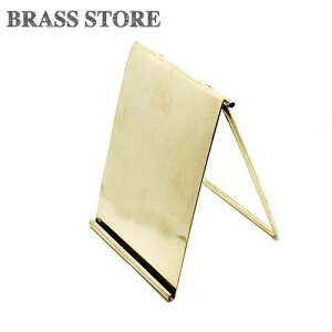 BRASS STORE ブラスストア / 真鍮 カードスタンド(Sサイズ) / 縦型 ポップホルダー ハガキ ポストカード 名刺立て ブラス ステーショナリー ゴールド 置物 額縁 折り畳み