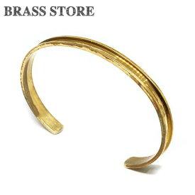 BRASS STORE ブラスストア / 真鍮 レールブレスレット(細幅 Lサイズ)/ 細い バングル 腕輪 ゴールド アクセサリー 小物 雑貨 メンズ レディース ソリッドブラス