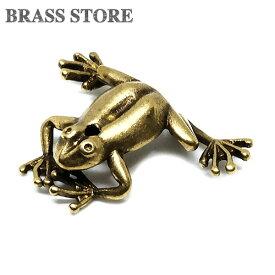 BRASS STORE ブラスストア / 真鍮 お香立て(カエル)/ 蛙 かえる 動物 チャーム 置物 インセンス スタンド スティック ブラス 真鍮無垢 雑貨 縁起物 金属
