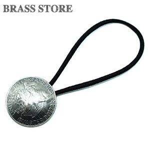 BRASS STORE ブラスストア / アメリカ 200周年記念 25セント コインコンチョブレスレット(ドラムボーイ)23mm / 硬貨 外国 バグル ビンテージ メンズ レディース 髪留め シルバー ゴールド アンク