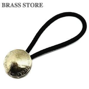 BRASS STORE ブラスストア / イギリス 3ペンス コインコンチョブレスレット(エリザベス3世)21mm / 硬貨 外国 バングル ビンテージ メンズ レディース 髪留め シルバー ゴールド アンクレット 古