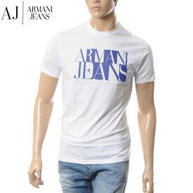 アルマーニジーンズ ARMANI JEANS クルーネックTシャツ メンズ 半袖 C6H72 FF ホワイト