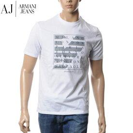 アルマーニジーンズ ARMANI JEANS クルーネックTシャツ メンズ 3Y6T21 6J00Z ホワイト