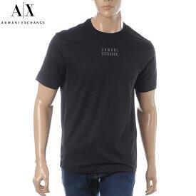 アルマーニエクスチェンジ A|X ARMANI EXCHANGE クルーネックTシャツ 半袖 メンズ 3GZTHG ZJH4Z ブラック