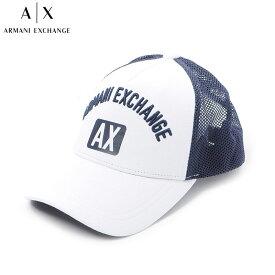アルマーニエクスチェンジ A|X ARMANI EXCHANGE ベースボールキャップ 帽子 メンズ 954047 9P136 ホワイト×ネイビー