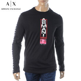 アルマーニエクスチェンジ A|X ARMANI EXCHANGE クルーネックTシャツ 長袖 メンズ 6GZTAN ZJH4Z ブラック 2019秋冬新作